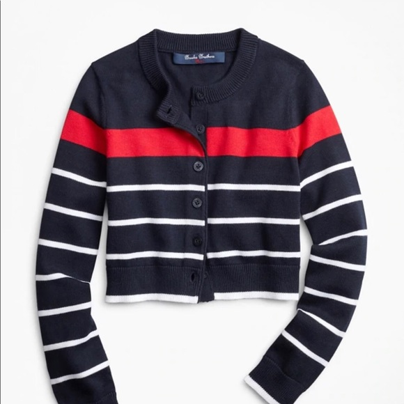 Brooks brothers cropped sweater
